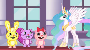The Happy Tree Friends meet Princess Celestia