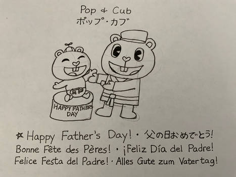 Happy Fathers Day from Pop and Cub