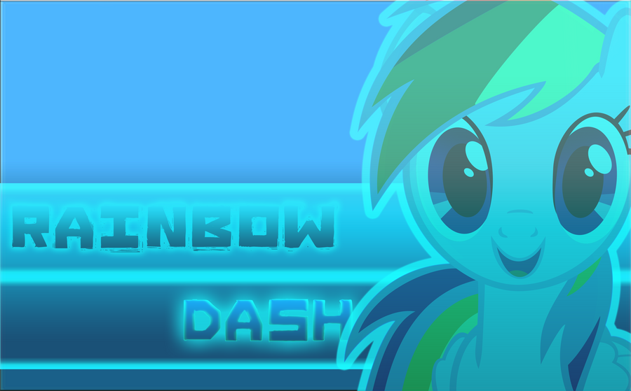 Rainbow Dash Wallpaper (Wallpaper #2 Alt) by Lightslash