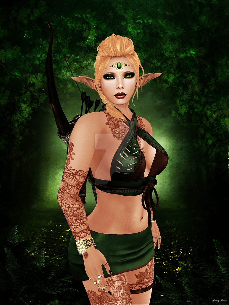 Elven Guardian by Laineythorne