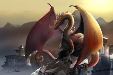 Some Dragon above Tibet by Gilmec