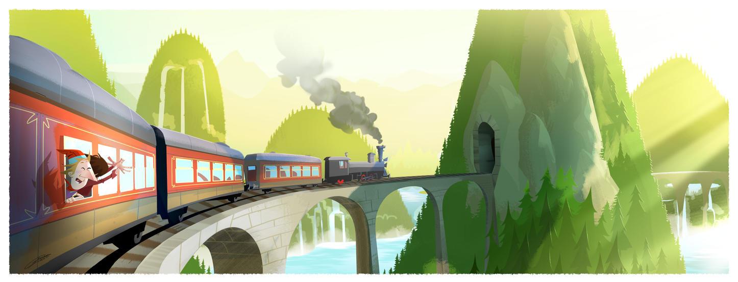 mountain rail journey by Gilmec
