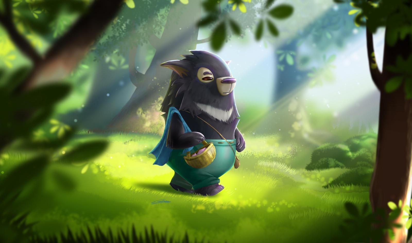 Moonbear walking by Gilmec