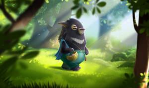Moonbear walking