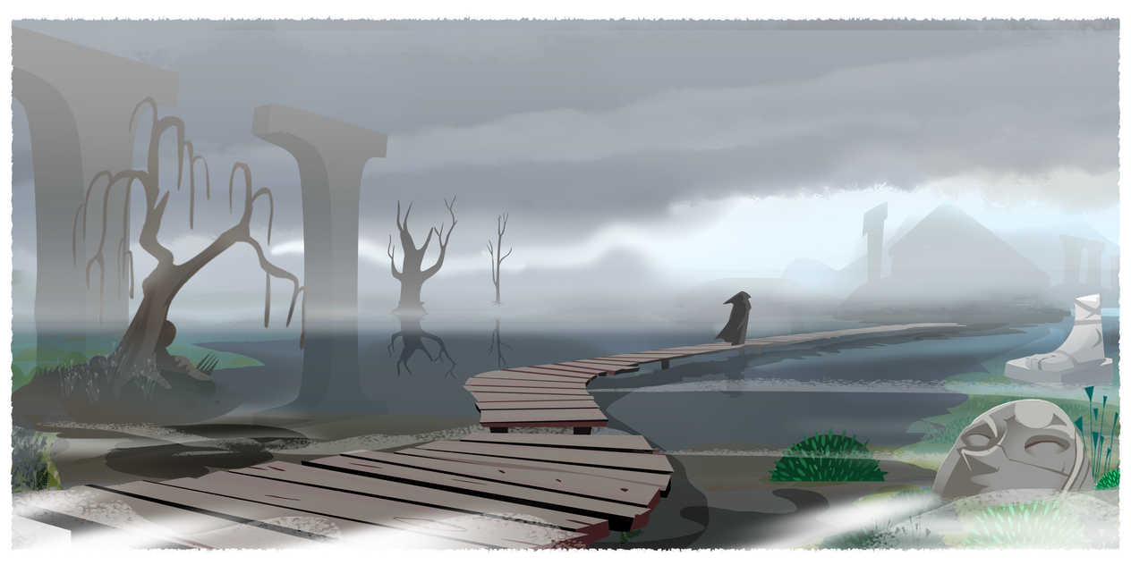 path  to the swamp shrine WIP by Gilmec