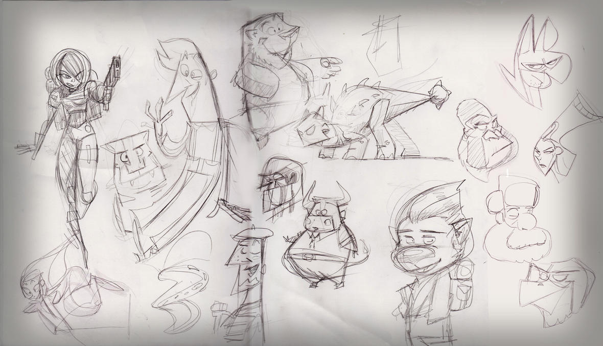 Daily doodles 26.09.14 by Gilmec