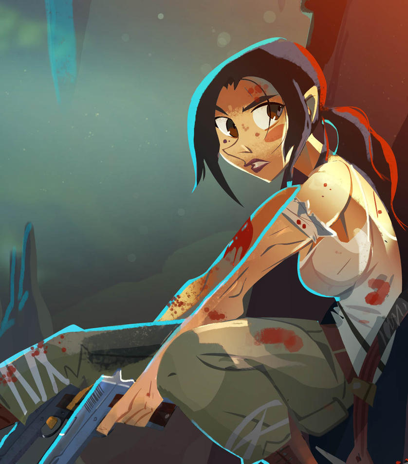 Tomb Raider  (close up) by Gilmec