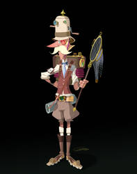 Steampunk Explorer Character Design by Gilmec