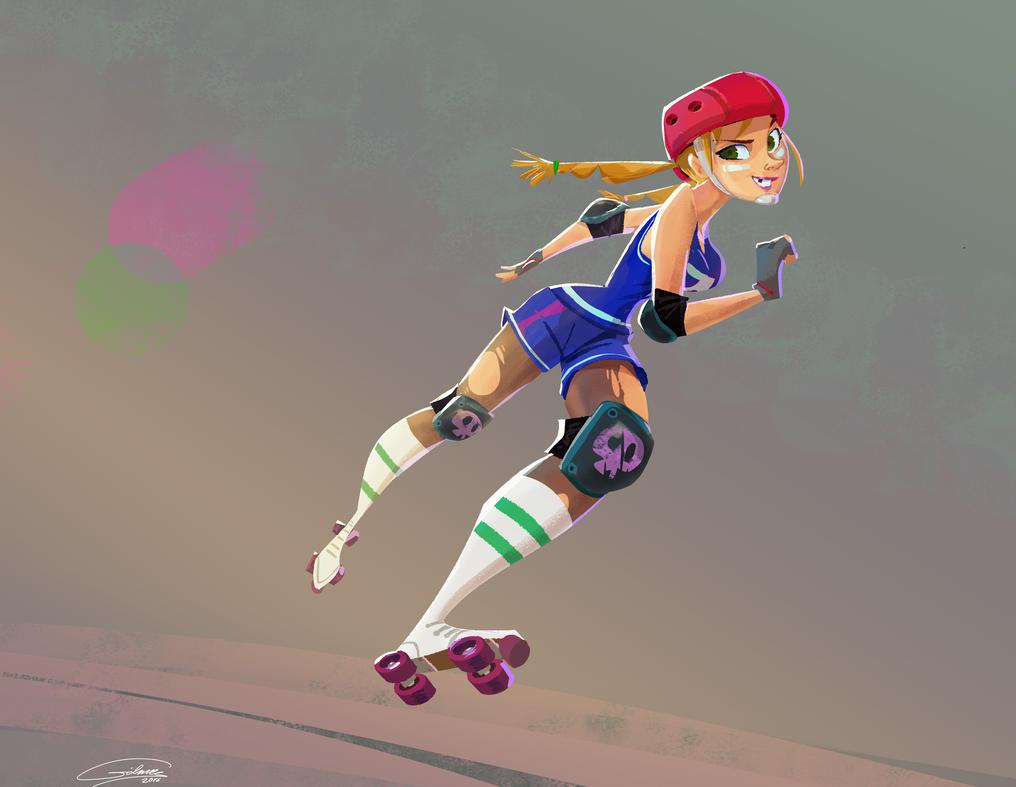 Roller Derby Girl by Gilmec
