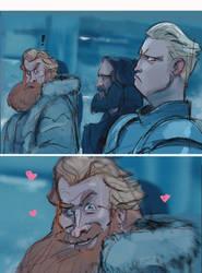 Tormund and Brienne by Gilmec