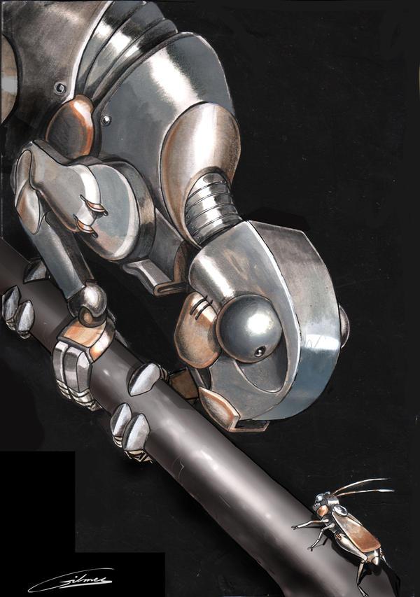 Robot-chameleon by Gilmec