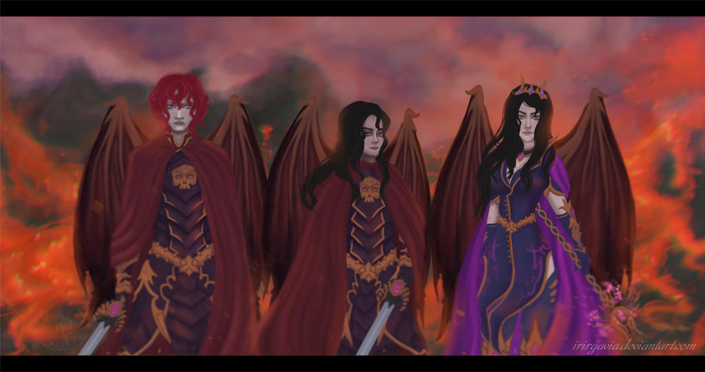 Fighting trio by Irirgavia