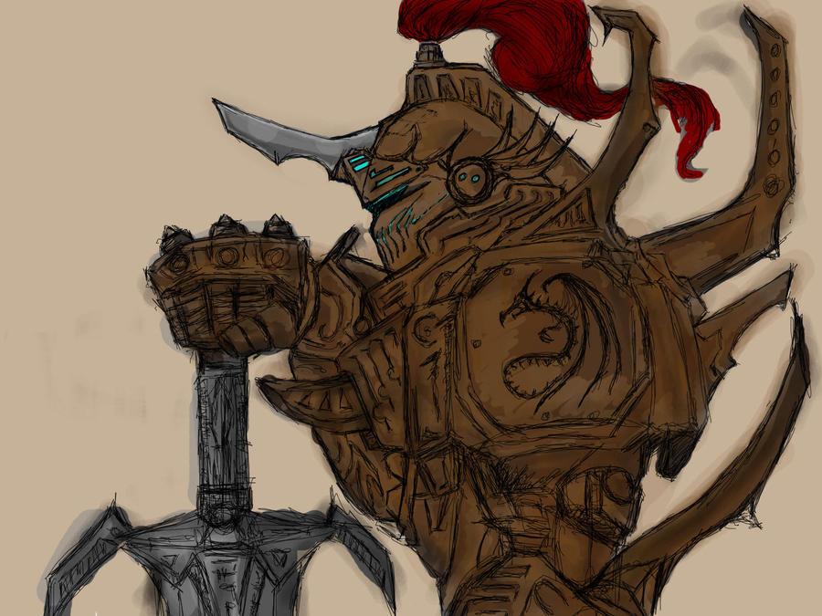 mech knight by MortarPsycho