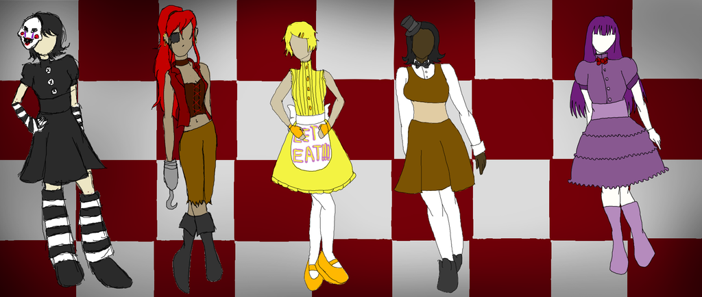 Fnaf girl costumes by minieverfeel on deviantart