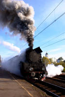 steam locomotive by Zbychowiec