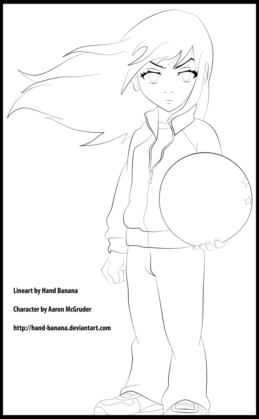 Ming from Boondocks Lineart by Hand-Banana