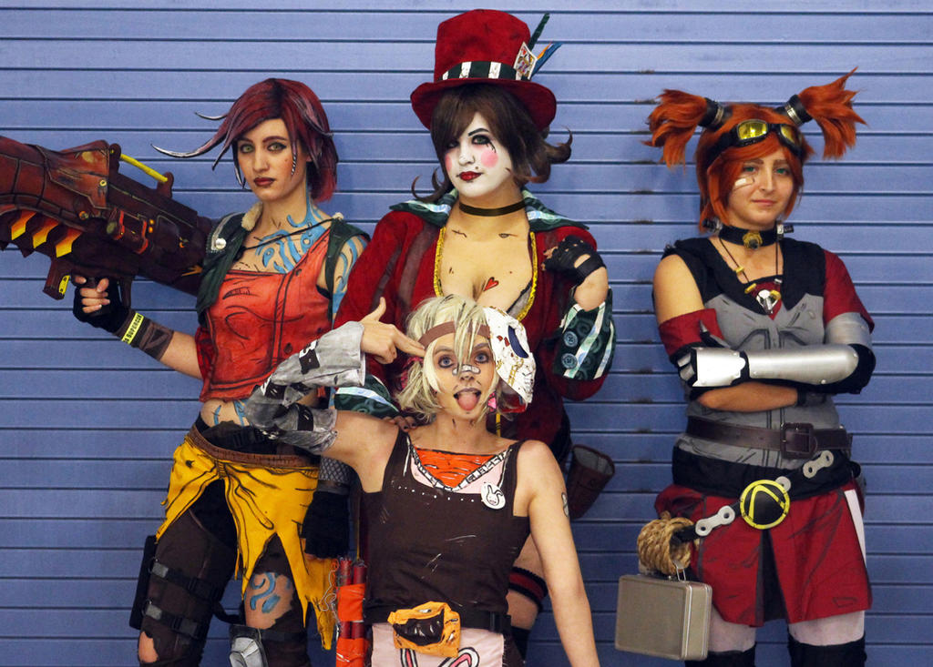 Borderlands: Lilith, Tina, Moxxi, and Gaige by II2DII