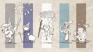 Fanart - Five Wizards