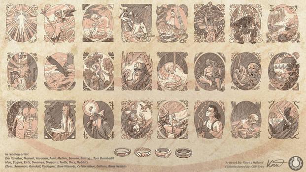Commission - LotR Portraits