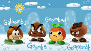 Fanart: The 4 Goombs of Mario Maker