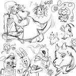 Undertale Sketchdump (spoilers!)