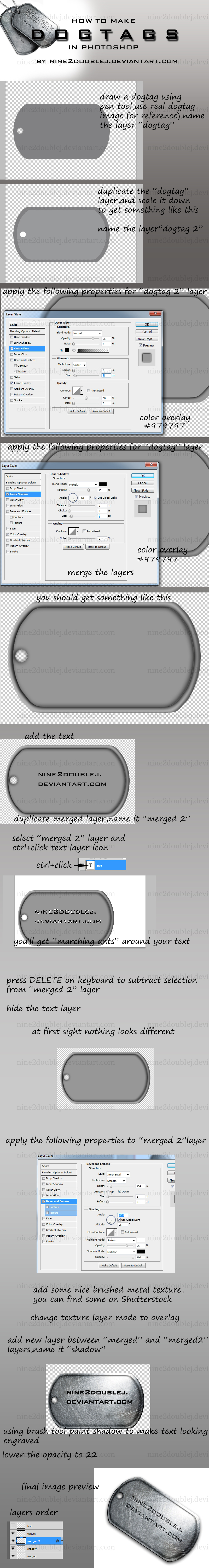 Dogtags tutorial by nine2doubleJ