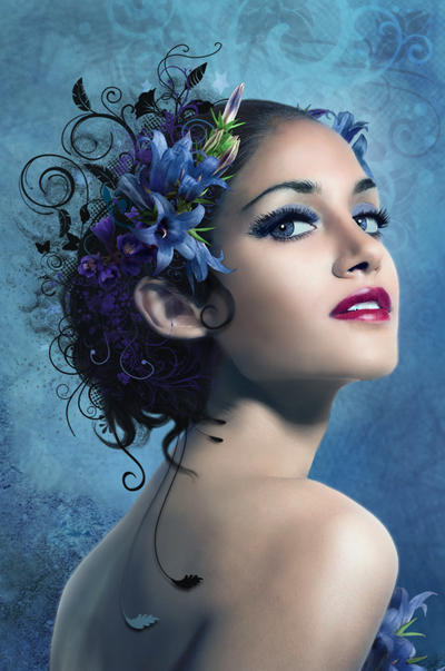 blueFlowers by IgnisFatuusII