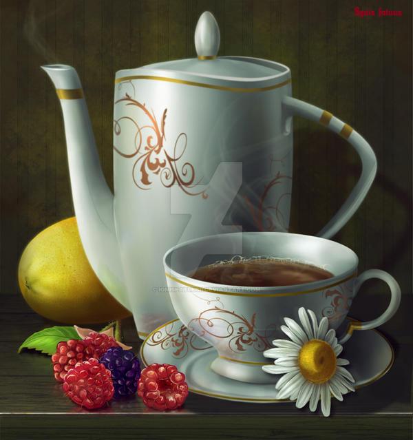 Tea with raspberry. by IgnisFatuusII