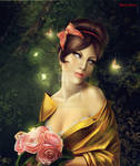 Girl with flowers by IgnisFatuusII
