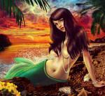 Fantasy world of mermaids.