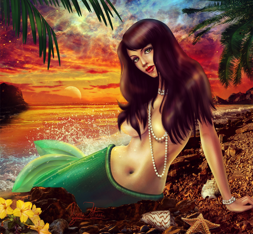 Fantasy world of mermaids. by IgnisFatuusII