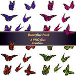 Butteflies  pack_FREE STOCK. 4 PNG FILES!