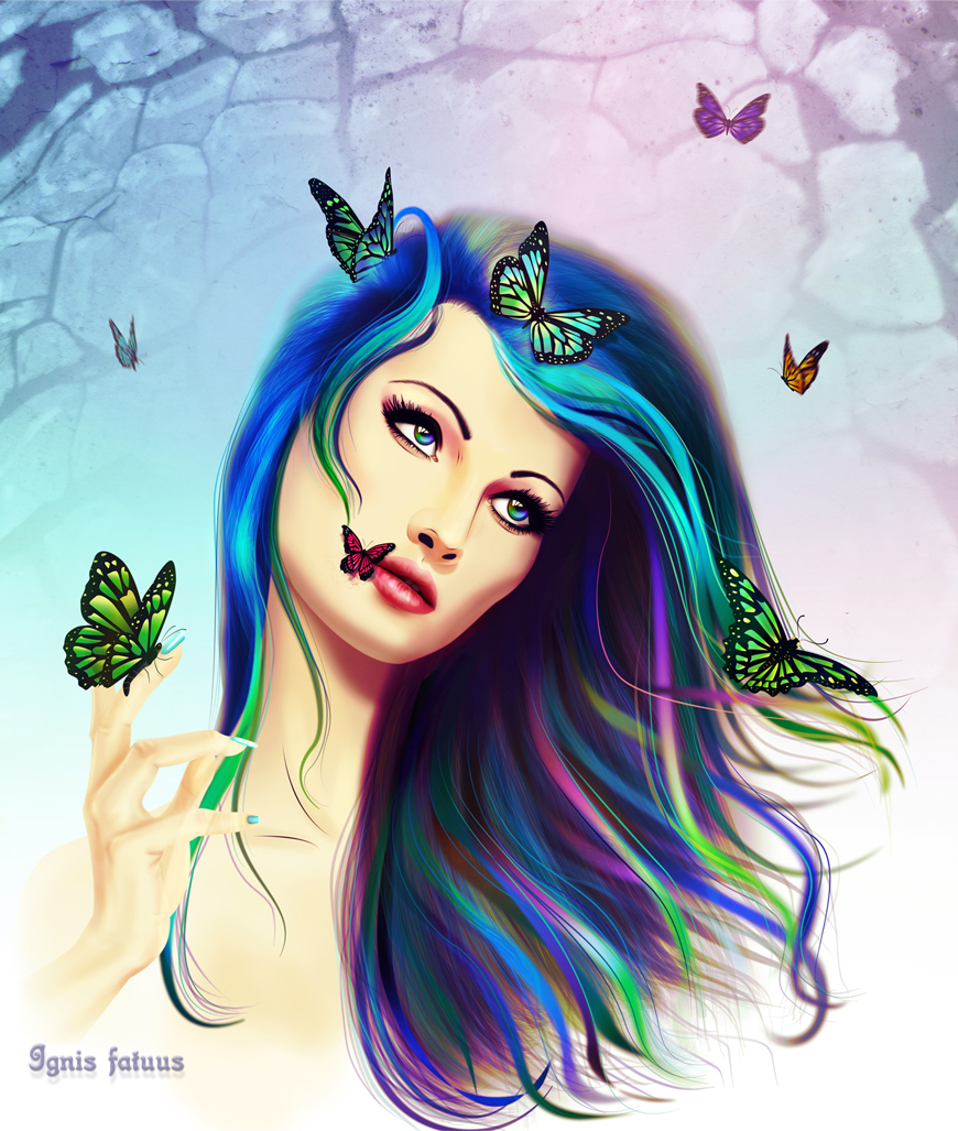 Buttefly girl