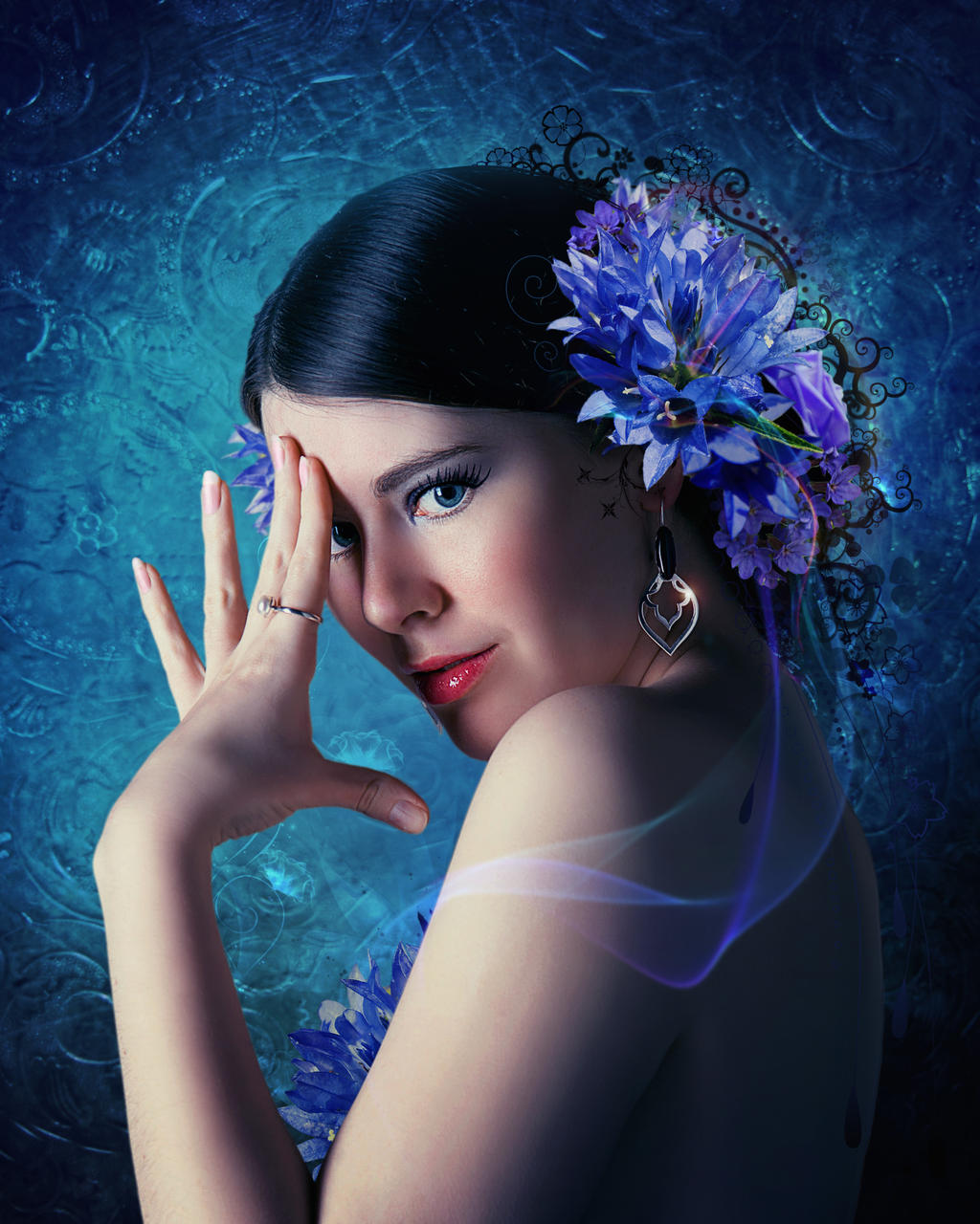 Blue flowers2 by IgnisFatuusII