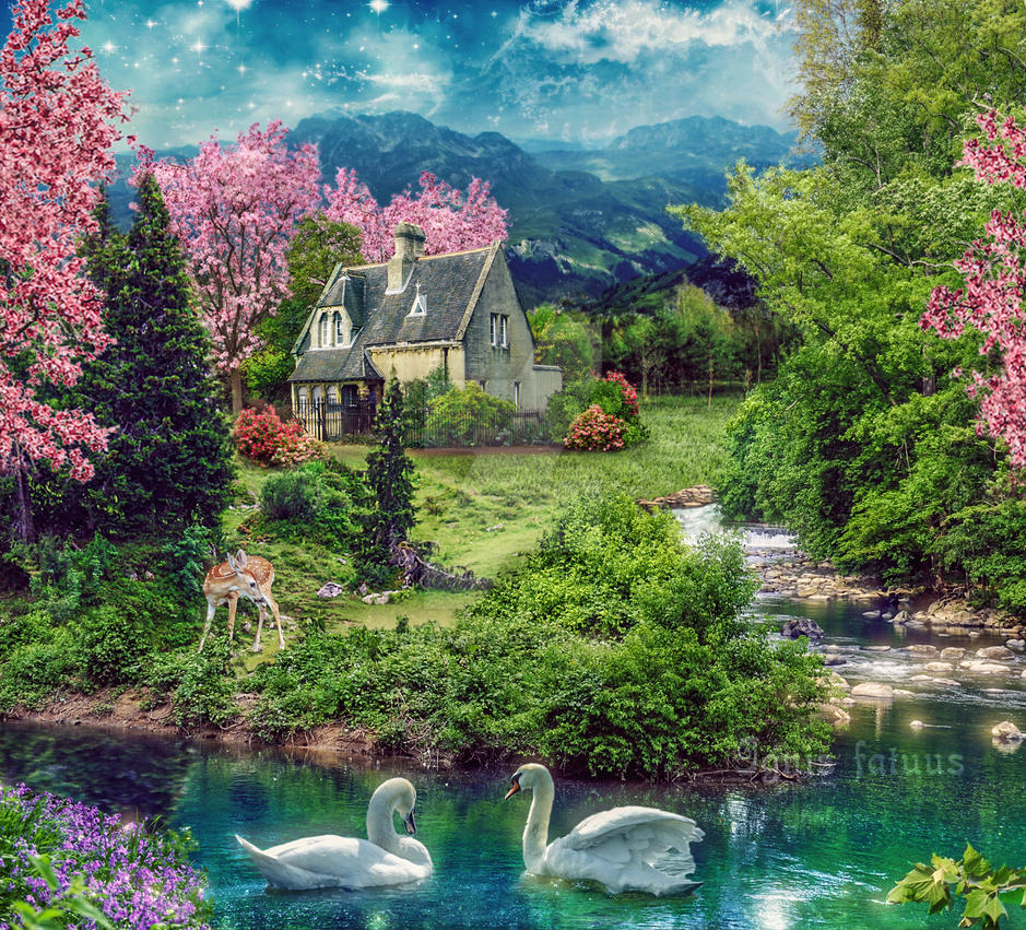 Spring landscape by ignisfatuusii on deviantart for Landscape images