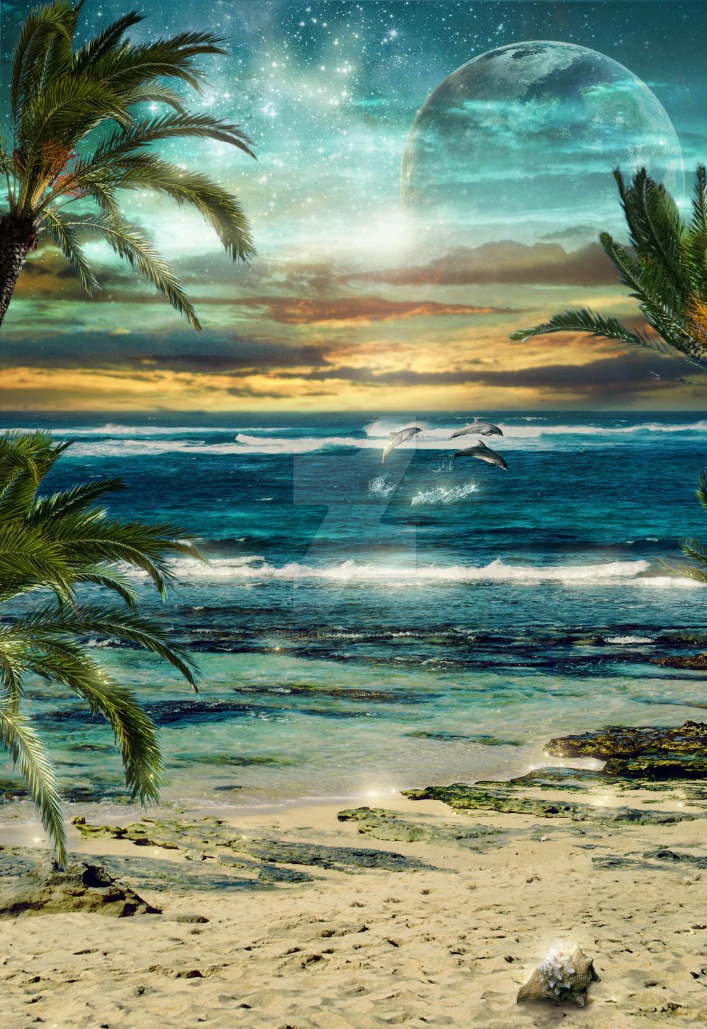 Sea Sunset Fantasy by IgnisFatuusII
