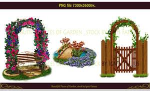 Beautiful pieces of garden  stock