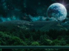 Emerald skies - Free stock - Premade background by IgnisFatuusII