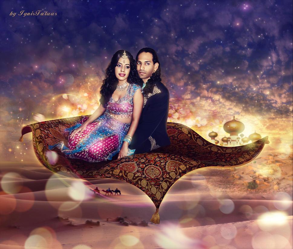 Jasmin and Aladdin by IgnisFatuusII