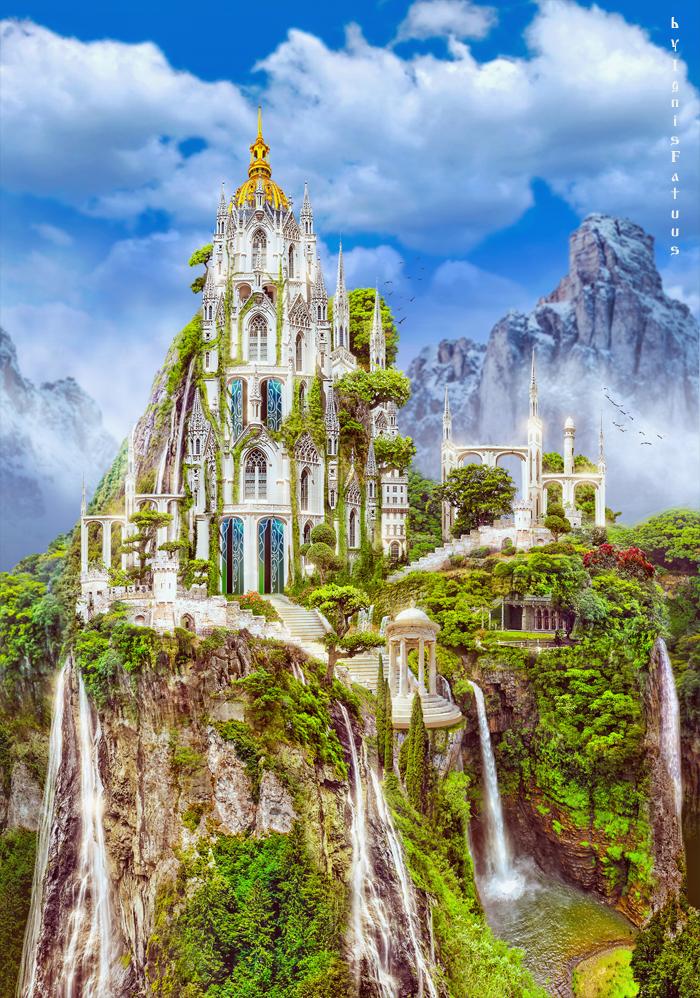 Elfish castle by IgnisFatuusII