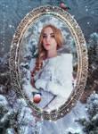 Portrait of snow princess.