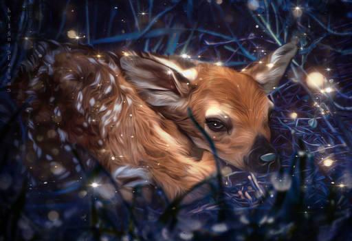 A little fawn.