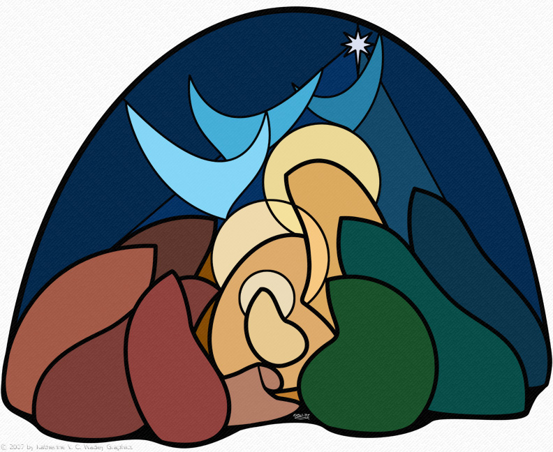 Nativity - Stained Glass Study by keight