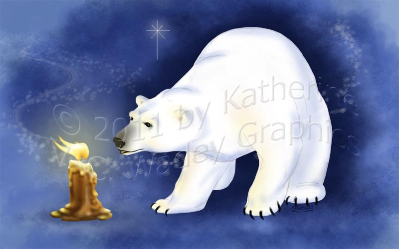 bear and candle by keight
