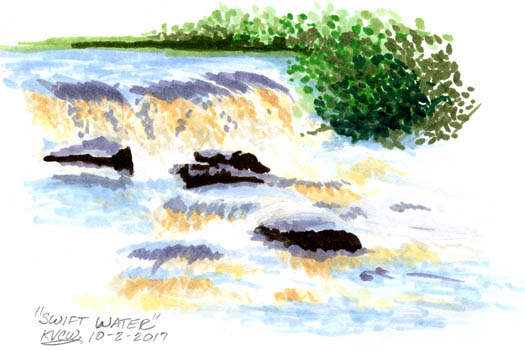 Inktober 2017 - Swift Water - Day 1 by keight