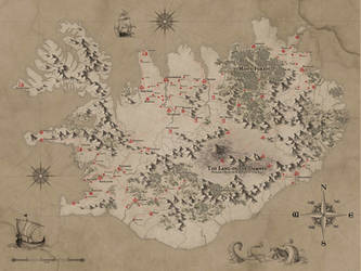 Fantasy Iceland Map by MilanVasek
