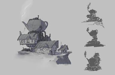 Steampunk Teahouse by MilanVasek