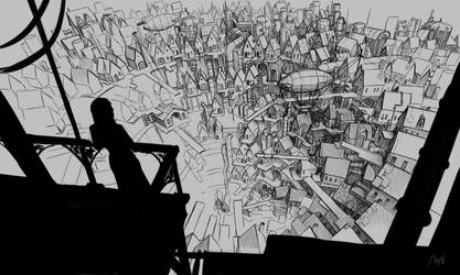 Steampunk City Sketch