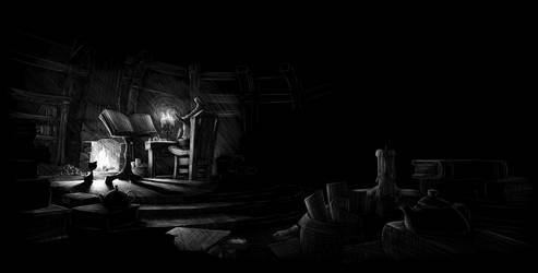 Little wizard's study by MilanVasek