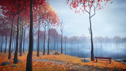 Autumn Lake by MilanVasek